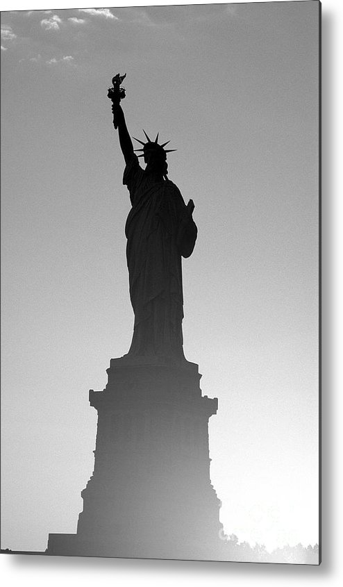 Statue Of Liberty Metal Print featuring the photograph Statue Of Liberty by Tony Cordoza