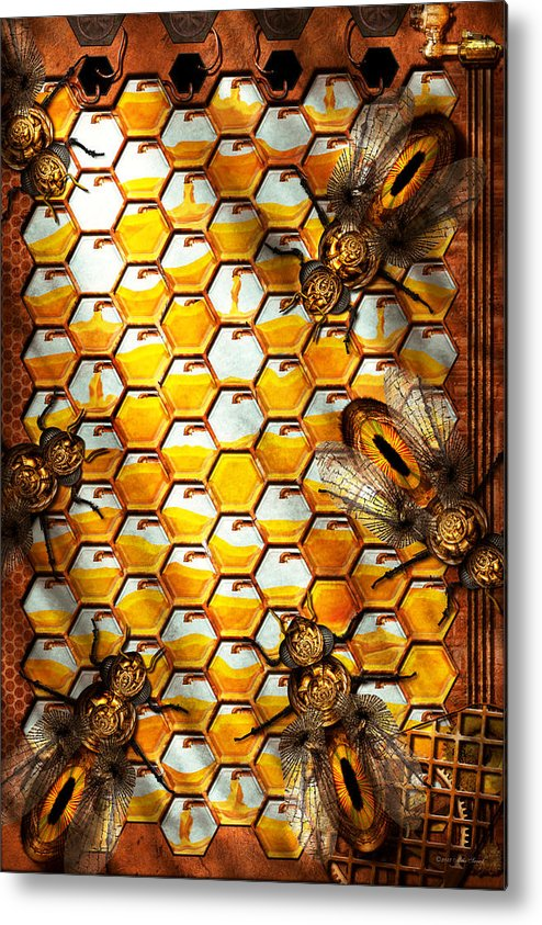 Self Metal Print featuring the photograph Steampunk - Apiary - The Hive by Mike Savad
