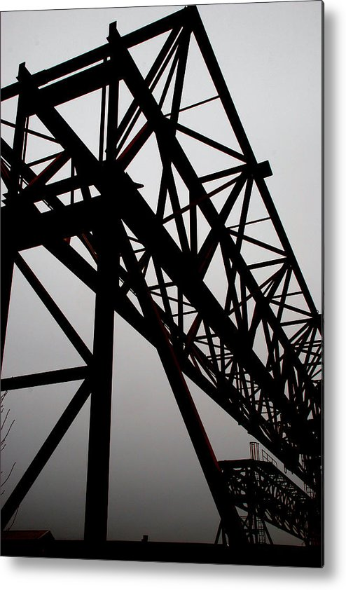 Railroad Metal Print featuring the photograph Steel Lift by Steve Tracy