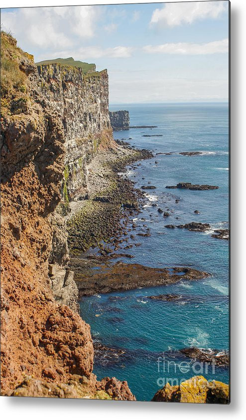 Steep Metal Print featuring the photograph Steep Coast In Iceland by Patricia Hofmeester