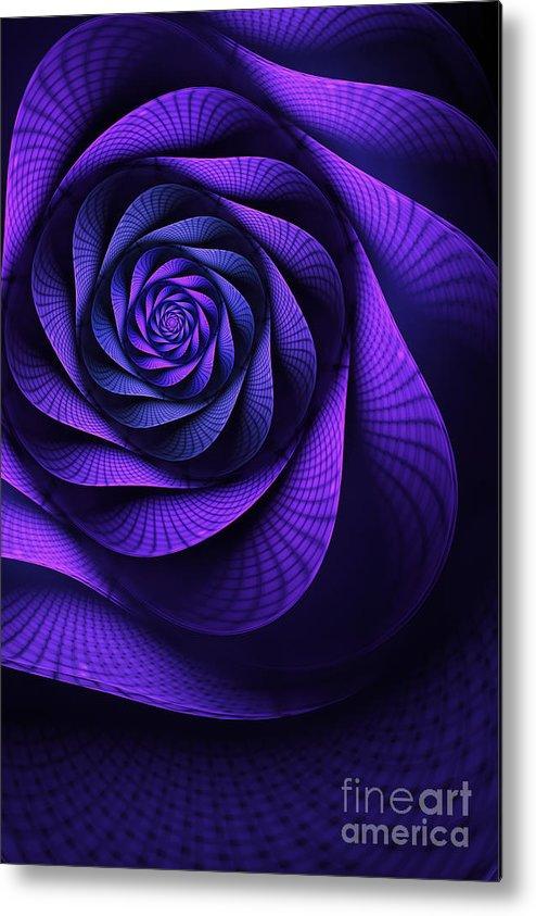 Art Nouveau Flower Metal Print featuring the digital art Stile Floreal by John Edwards