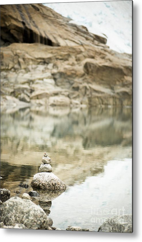 2014 Metal Print featuring the photograph Stone Stack Pool by Anne Gilbert