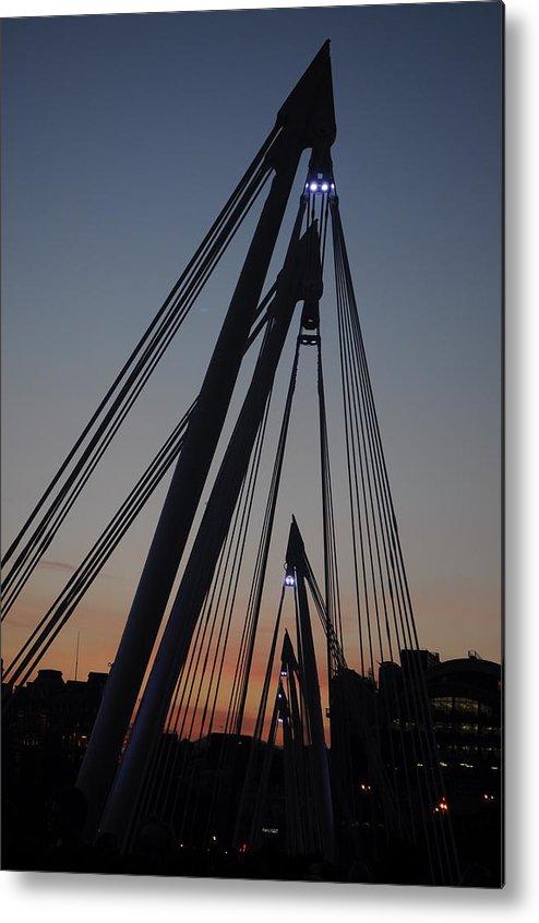 London Metal Print featuring the photograph Sunset Bridge by Vivienne Harman