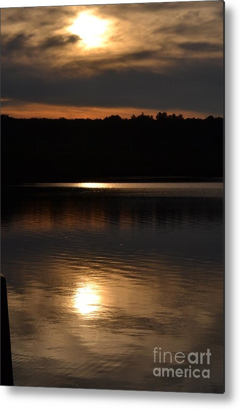 Rhode Island Metal Print featuring the photograph Sunset In North Providence Ri by Dennis Godin