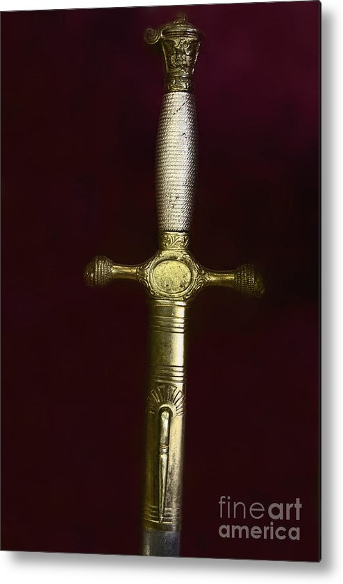 Sword Metal Print featuring the photograph Sword by Margie Hurwich