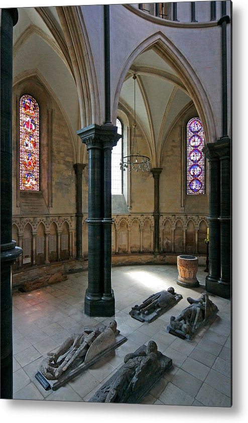 Templar Metal Print featuring the photograph Templar Knights Temple Church London by Mathew Lodge