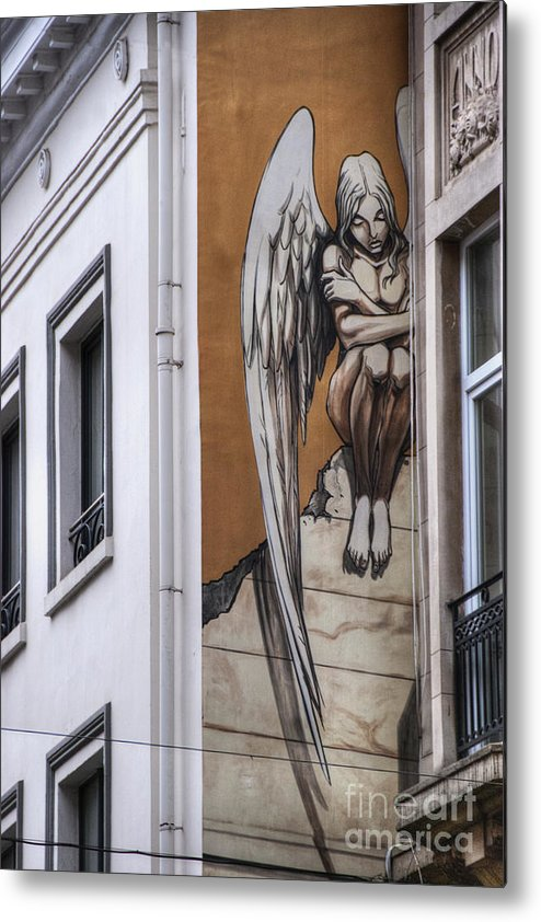 Architectural Feature Metal Print featuring the photograph The Angel by Juli Scalzi