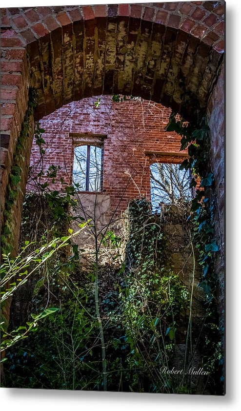 Mill Metal Print featuring the photograph The Entrance by Robert Mullen