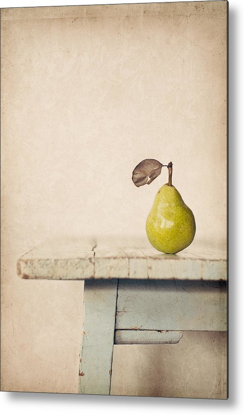 Pear Metal Print featuring the photograph The Exhibitionist by Amy Weiss