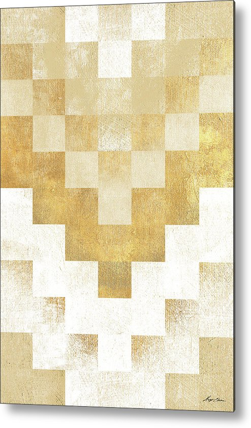 The Metal Print featuring the mixed media The Golden Path by Hugo Edwins
