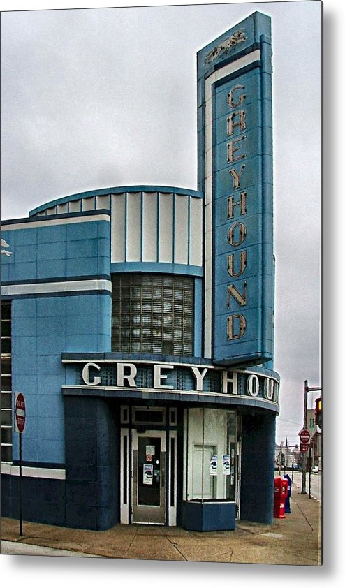 Old Bus Stations Metal Print featuring the photograph The Greyhound Bus Station by Julie Dant