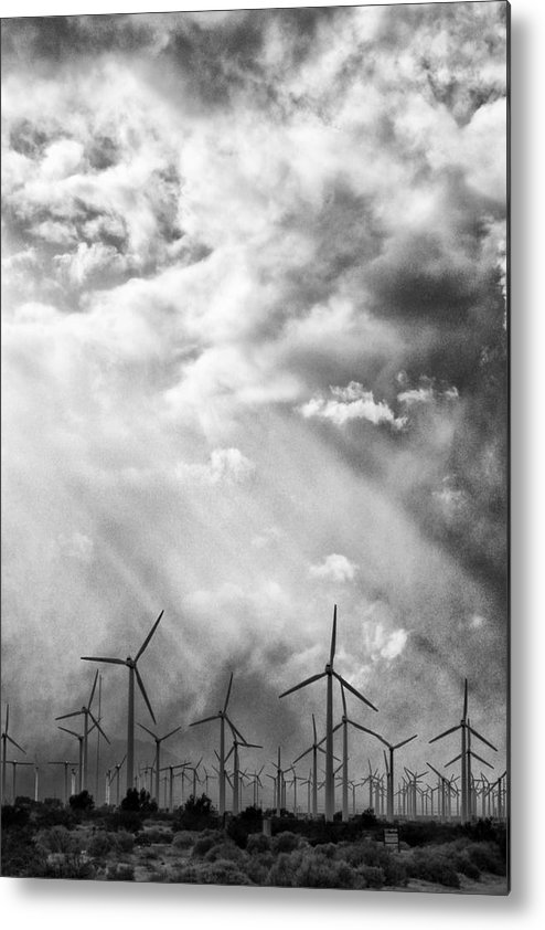 Windmills Metal Print featuring the photograph The Mighty Wind Palm Springs by William Dey