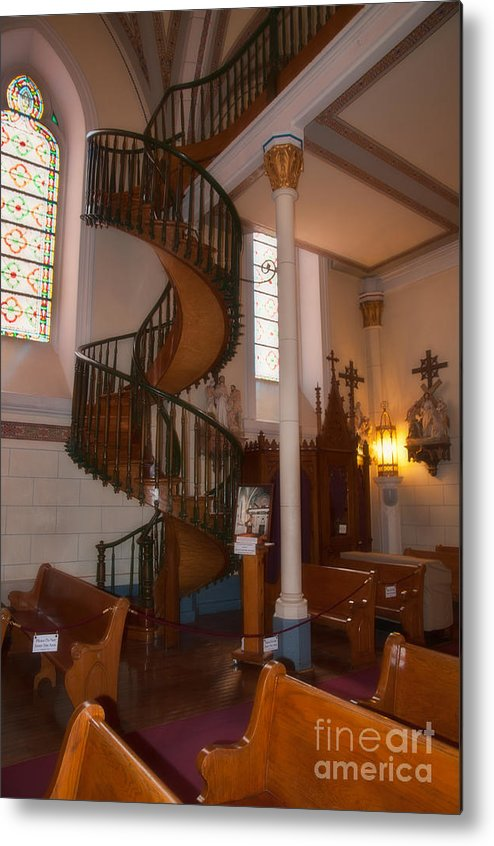 New Mexico Metal Print featuring the photograph The Miraculous Staircase by Pamela Bycraft