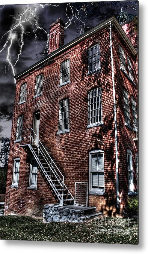 Abandoned Metal Print featuring the photograph The Old Jail by Dan Stone