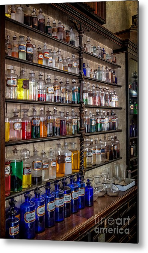 British Metal Print featuring the photograph The Pharmacy by Adrian Evans