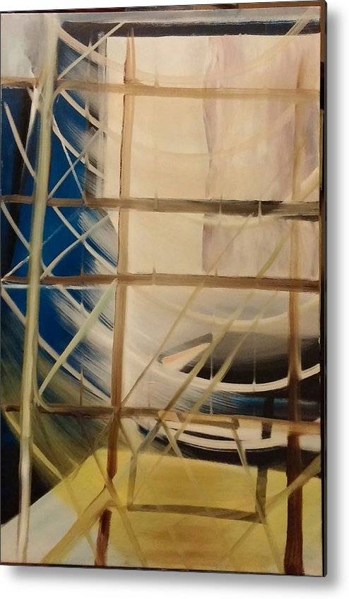 Metal Print featuring the painting The Rigging by Gregory Dallum