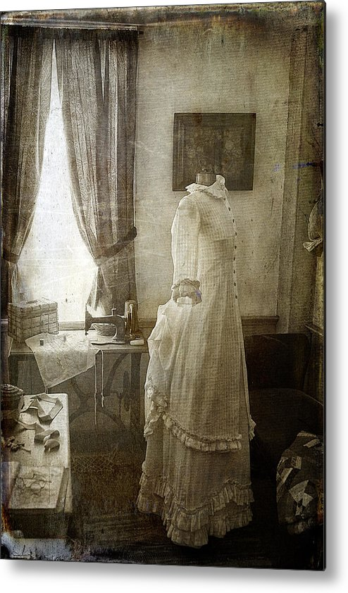Cindi Ressler Metal Print featuring the photograph The Sewing Room by Cindi Ressler