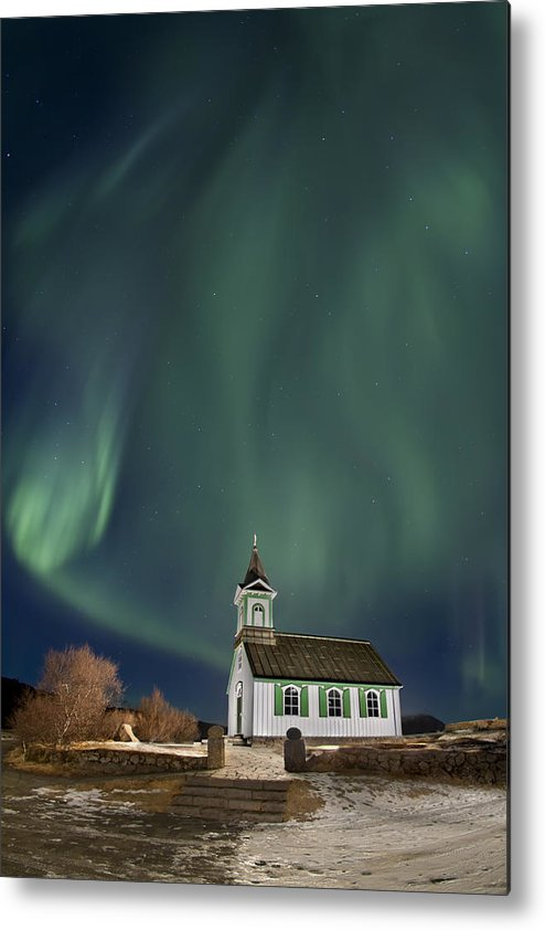 Aurora Metal Print featuring the photograph The Spirit Of Iceland by Evelina Kremsdorf