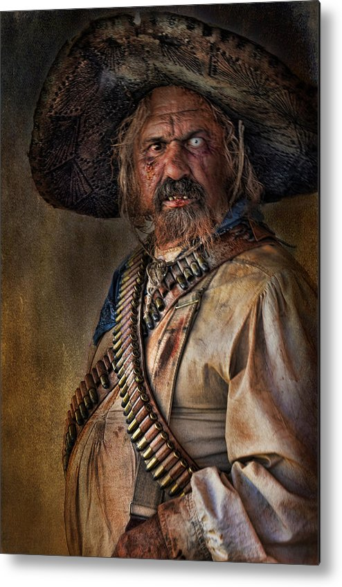 Man Metal Print featuring the photograph The Tombstone Bandito by Barbara Manis