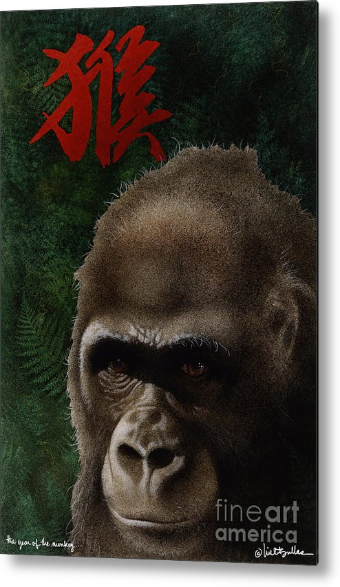 Will Bullas Metal Print featuring the painting The Year Of The Monkey... by Will Bullas