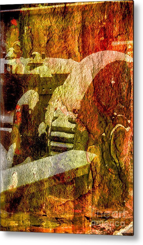Composite Photo Metal Print featuring the photograph Then Now And Forever by Jay Ressler