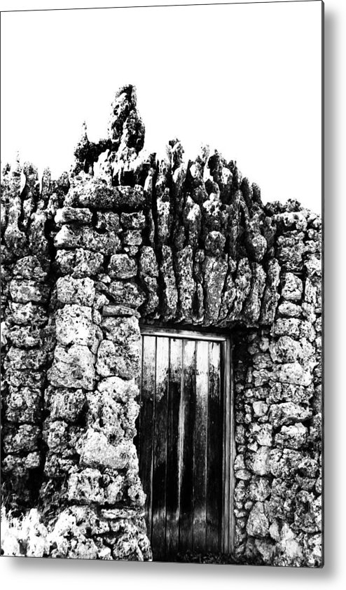 Black And White Metal Print featuring the photograph Tomb Of Stone by Tera Bunney