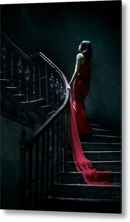 Woman Metal Print featuring the photograph Trail by Cambion Art