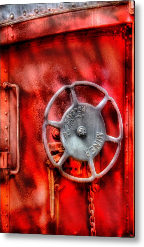 Savad Metal Print featuring the photograph Train - Car - The Wheel by Mike Savad