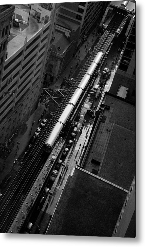 Chicago Transit Metal Print featuring the photograph Transit Authority by Polina Goncharova