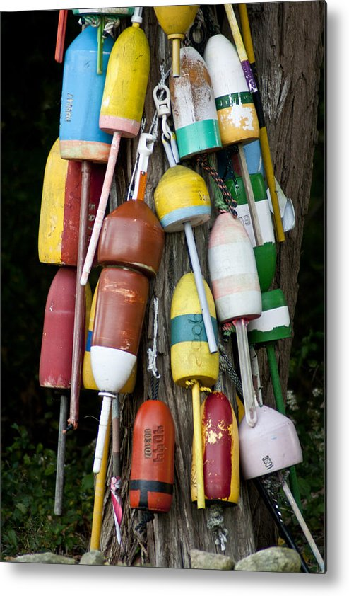 Bouys Metal Print featuring the photograph Tree Bouys by Dennis Coates
