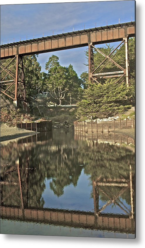 La Selva Metal Print featuring the photograph Trestle Over Reflecting Water by SC Heffner