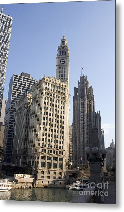 Chicago Riverwalk Metal Print featuring the photograph Tribune Tower Chicago by Jason O Watson