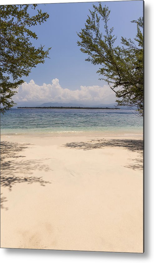Tropical Metal Print featuring the photograph Tropical Island Beach by Marcos Welsh