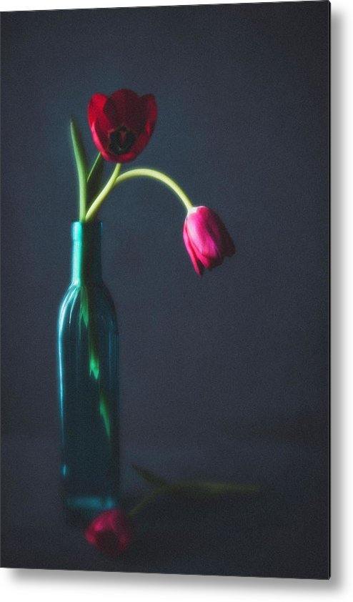 Mother's Day Metal Print featuring the photograph Tulip Still Life For Mothers Day by Catlane