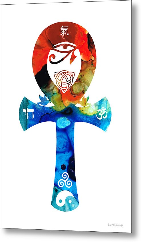 Unity Metal Print featuring the painting Unity 16 - Spiritual Artwork by Sharon Cummings