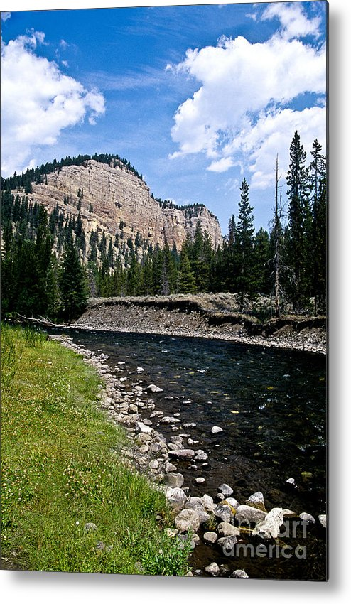 Landscape Metal Print featuring the photograph Upriver In Washake Wilderness by Kathy McClure
