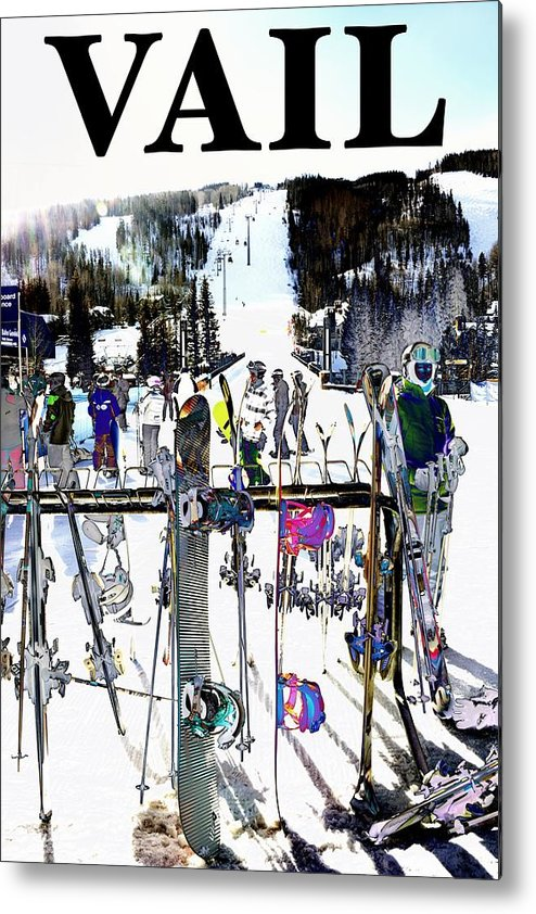 Vail Metal Print featuring the photograph Vail Fun by Roberta Peake