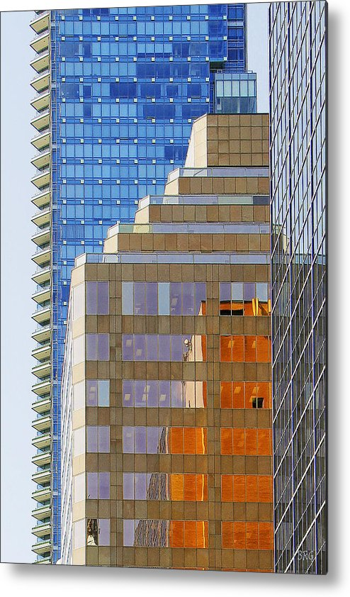 Architecture Metal Print featuring the photograph Vancouver Reflections No 1 by Ben and Raisa Gertsberg