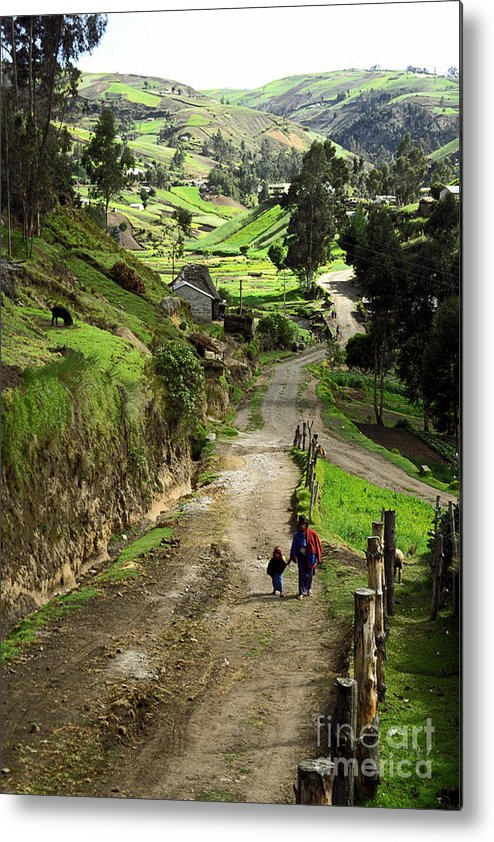 Ecuador Metal Print featuring the photograph View Of Lupaxi by Kathy McClure
