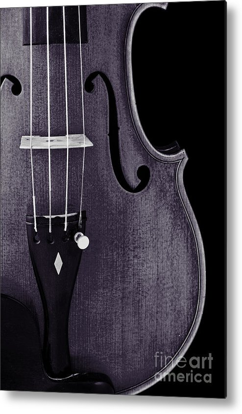 Violin Metal Print featuring the photograph Violin Viola Body Photograph Or Picture In Sepia 3265.01 by M K Miller