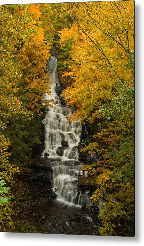 Waterfall Metal Print featuring the photograph Vogal State Park by Theron Clore