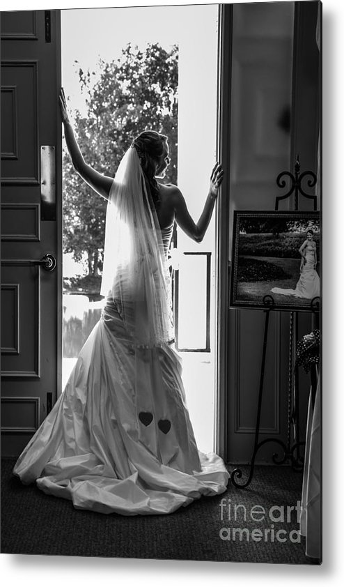 Bride Metal Print featuring the photograph Waiting Bride by Jh Photos