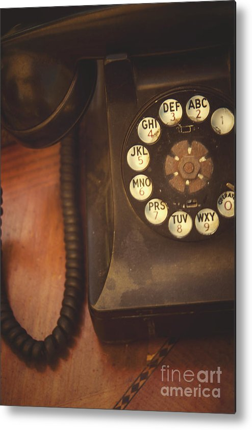 Phone Metal Print featuring the photograph Waiting For The Phone To Ring by Margie Hurwich