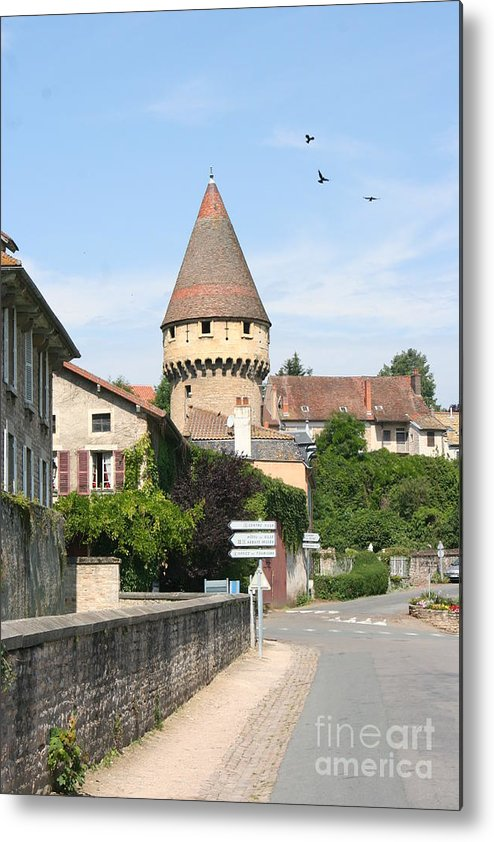 Tower Metal Print featuring the photograph Watch Tower In Cluny by Christiane Schulze Art And Photography