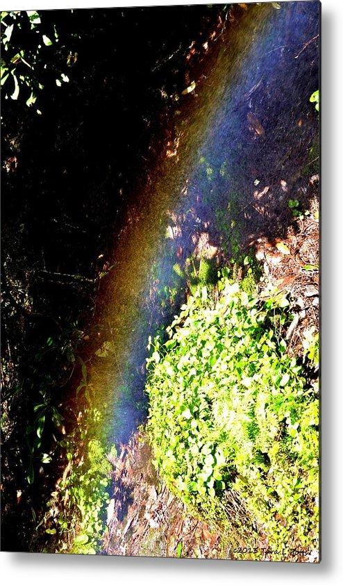 Waterfall Metal Print featuring the photograph Waterfall Rainbow by Tara Potts