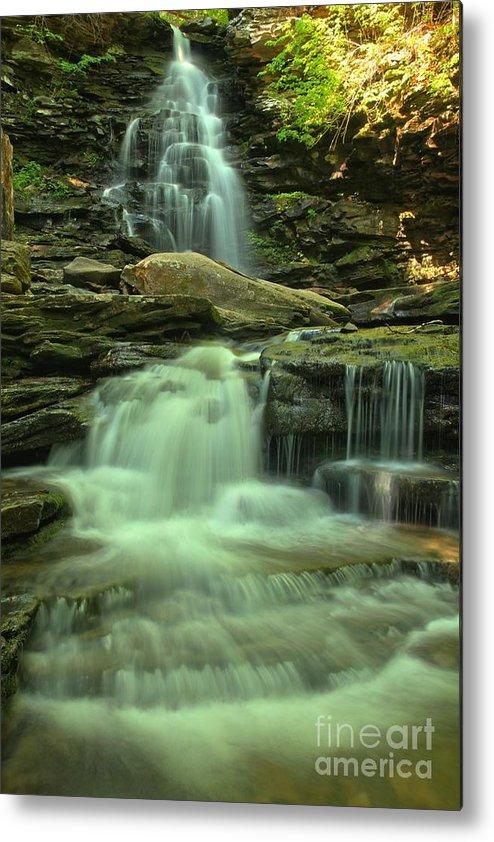 Ricketts Glen Waterfalls Metal Print featuring the photograph Waterfalling Through Ricketts Glen by Adam Jewell