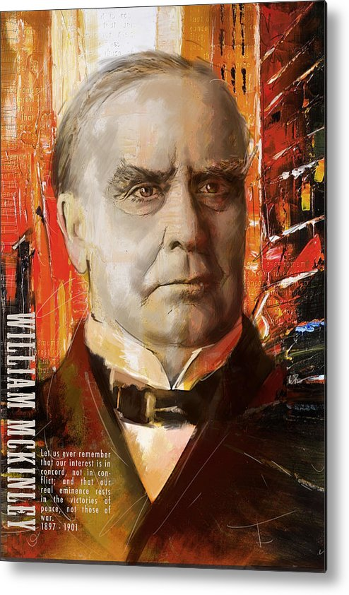 William Mckinley Metal Print featuring the painting William Mckinley by Corporate Art Task Force