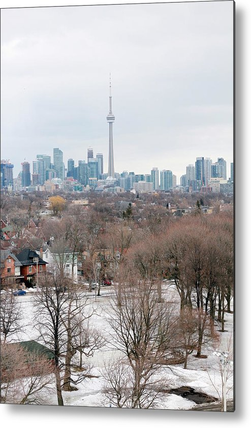 Apartment Metal Print featuring the photograph Winter In Toronto by Valentino Visentini