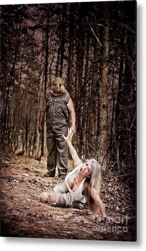 Hood Metal Print featuring the photograph Woods Of Terror by Jt PhotoDesign