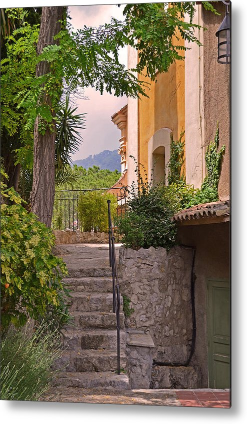 Eze Metal Print featuring the photograph Yellow House In Eze France by Joanne Grant